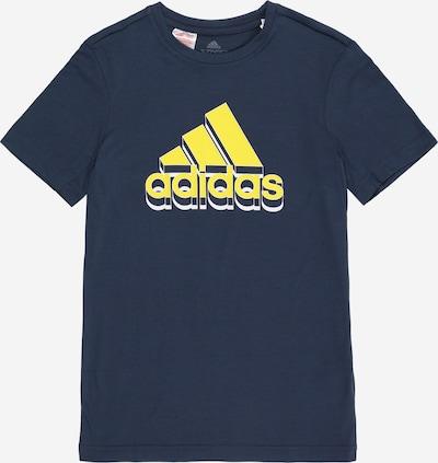 ADIDAS PERFORMANCE Sportshirt in marine / gelb / weiß, Produktansicht