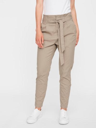 VERO MODA Kalhoty se sklady v pase 'Eva' - světle béžová, Model/ka