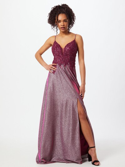 Unique Společenské šaty - růžově zlatá / malinová, Model/ka