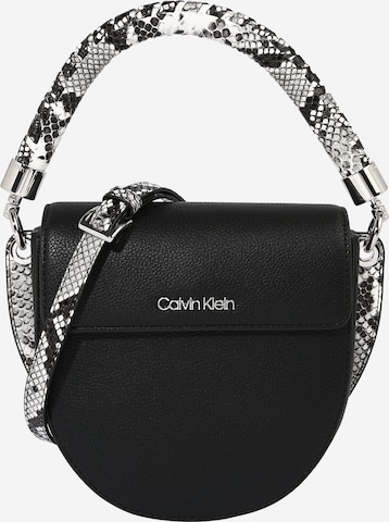 Calvin Klein Håndveske 'SADDLE' i svart
