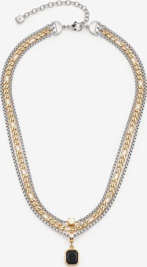 LEONARDO Kette in gold / schwarz / silber, Produktansicht