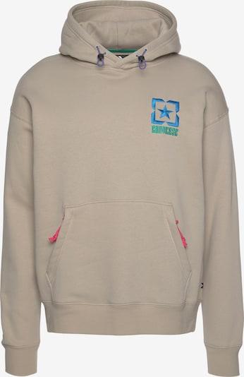 CONVERSE Sweatshirt in beige / blau / smaragd, Produktansicht