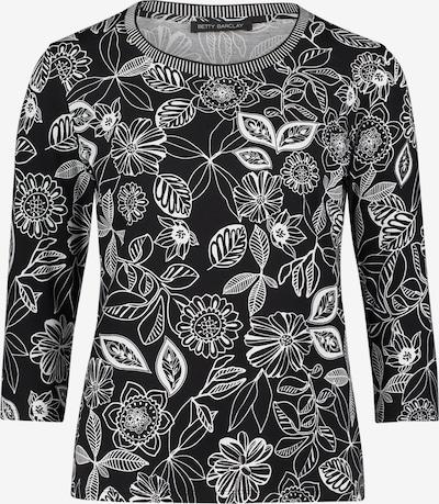 Betty Barclay Printshirt mit Rippbündchen in schwarz / weiß, Produktansicht