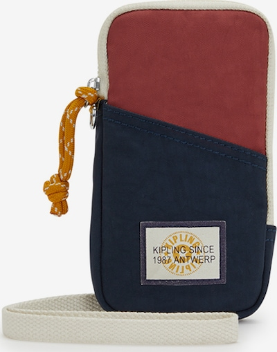 KIPLING Smartphonehoesje 'Clark' in de kleur Beige / Navy / Roestrood, Productweergave