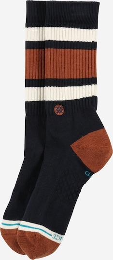 Stance Chaussettes de sport 'BOYD ST' en bleu foncé / marron / blanc, Vue avec produit