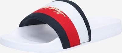 TOMMY HILFIGER Natikače u mornarsko plava / zlatna / crvena / bijela, Pregled proizvoda