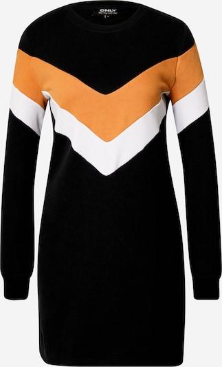 ONLY Kleid  'Dakota' in orange / schwarz / weiß: Frontalansicht