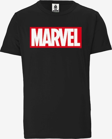 LOGOSHIRT Shirt 'Marvel Comics' in Black