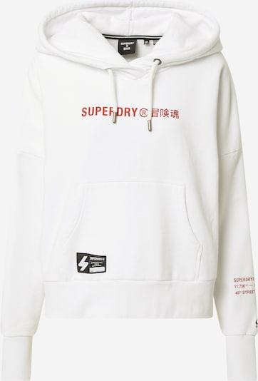 Superdry Sweatshirt in Red / White, Item view