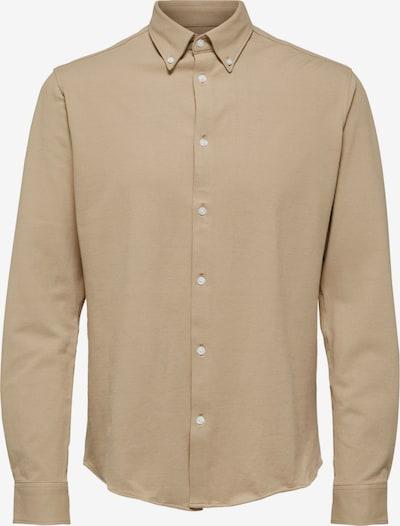 SELECTED HOMME Hemd 'Oliver' in beige, Produktansicht