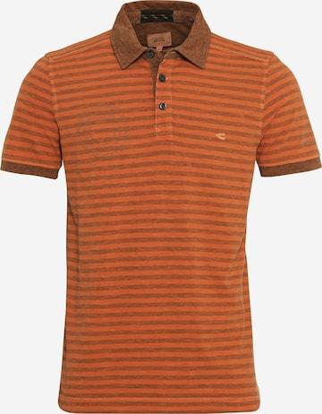 CAMEL ACTIVE Kurzarm Poloshirt Regular Fit in Orange