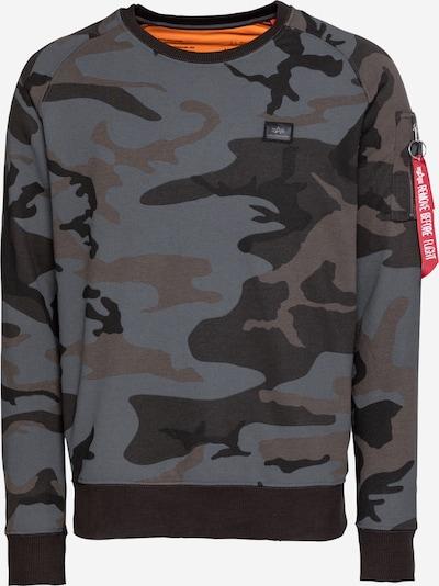 ALPHA INDUSTRIES Sweatshirt in braun / grau / schwarz, Produktansicht