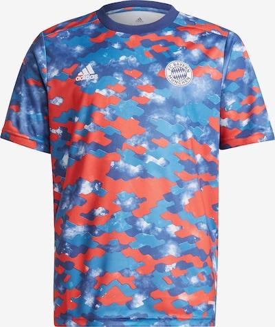 ADIDAS PERFORMANCE Functioneel shirt 'FC Bayern München' in de kleur Blauw / Lichtblauw / Oranjerood / Wit, Productweergave