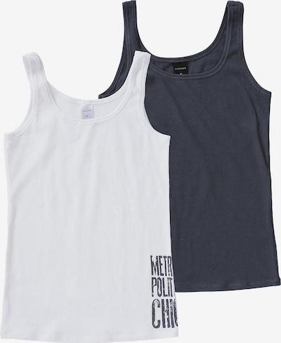 SCHIESSER Spodnja majica | nočno modra / bela barva, Prikaz izdelka