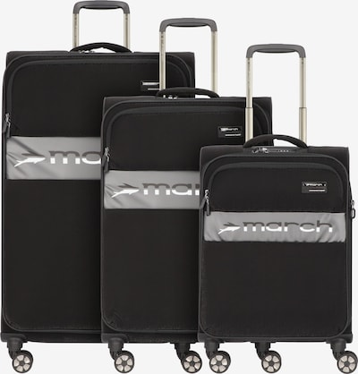March15 Trading Kofferset 'Mosaic' in anthrazit / schwarz / weiß, Produktansicht