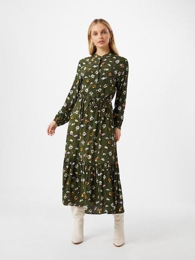 mbym Kleid 'Ellinor' in dunkelblau / dunkelgrün / orange / pink / weiß, Modelansicht