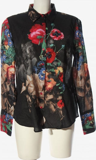 Milano Italy Hemd-Bluse in XL in rot / schwarz / wollweiß, Produktansicht