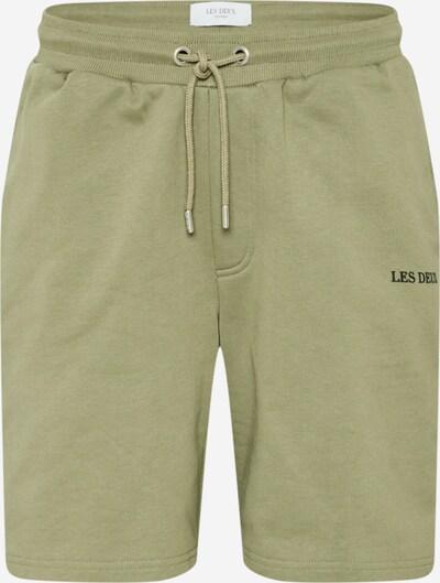 Les Deux Pantalon 'Lens' en vert clair / noir, Vue avec produit
