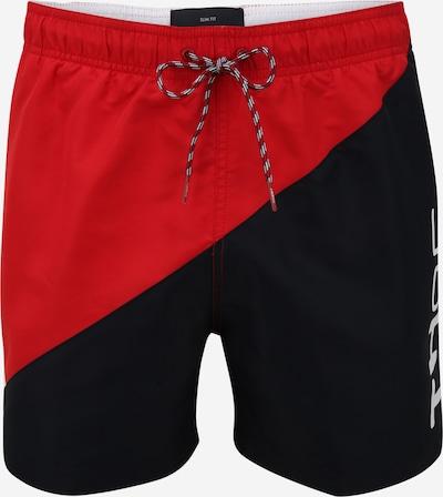 TOMMY HILFIGER Badeshorts in dunkelblau / rot / weiß, Produktansicht
