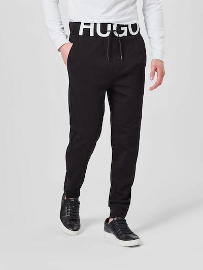 Pantaloni 'DUROS' HUGO pe negru / alb, Vizualizare model