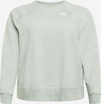 Nike Sportswear Sweatshirt in de kleur Lichtgrijs / Wit, Productweergave