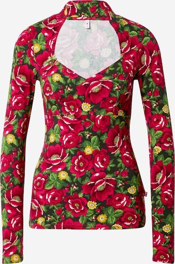 Blutsgeschwister Shirt in grün / rot, Produktansicht