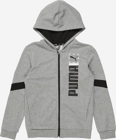 PUMA Sportovní mikina - šedá / černá, Produkt