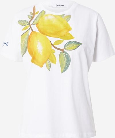 Desigual Shirt 'LEMONS' in de kleur Geel / Groen / Wit, Productweergave