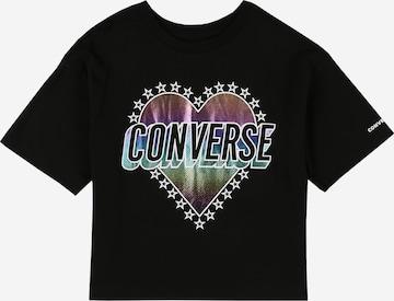 CONVERSE Tričko - Čierna