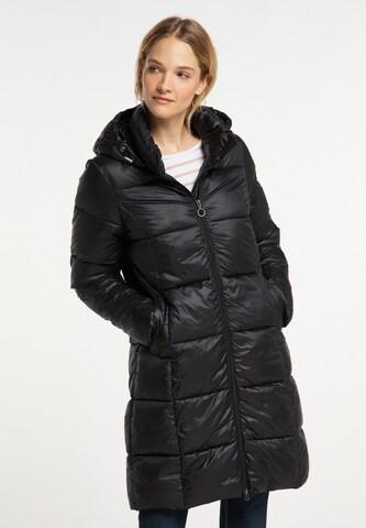 DreiMaster Maritim Winter Coat in Black