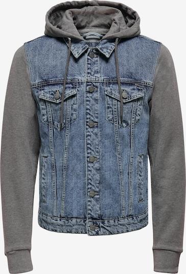 Only & Sons Jacke in blue denim / graumeliert, Produktansicht