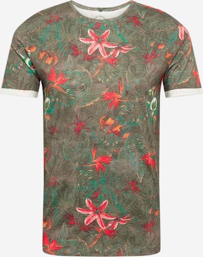 Key Largo Tričko 'JUNGLES' - čadičová / ružová / červená: Pohľad spredu