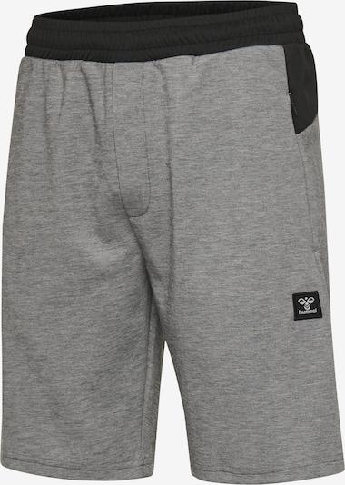 Hummel Shorts in graumeliert / schwarz / weiß, Produktansicht