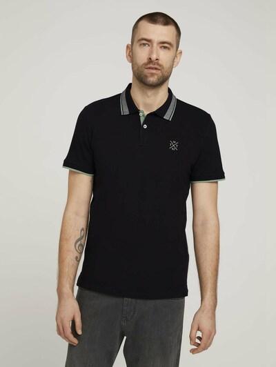 TOM TAILOR Shirt in de kleur Grijs / Groen / Zwart: Vooraanzicht
