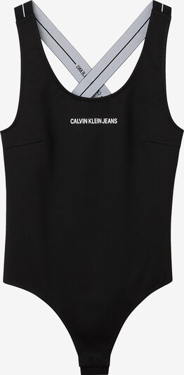 Calvin Klein Jeans Тениска боди в черно / бяло, Преглед на продукта