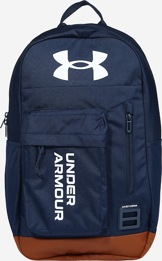 UNDER ARMOUR Sports backpack 'Halftime' in navy / caramel / white, Item view