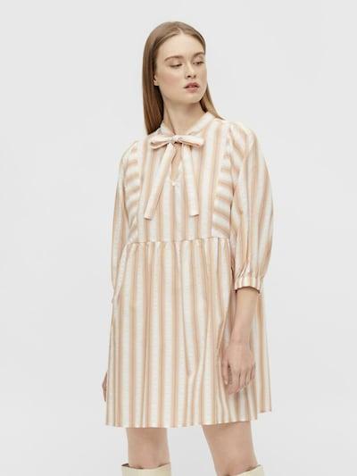 Rochie tip bluză OBJECT pe bej / alb, Vizualizare model