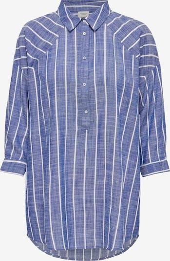 JDY Bluse 'Janine' in blaumeliert / weiß, Produktansicht