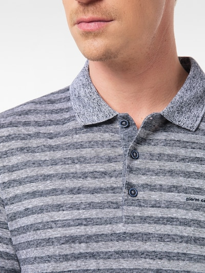 PIERRE CARDIN Poloshirt in marine / taubenblau, Produktansicht