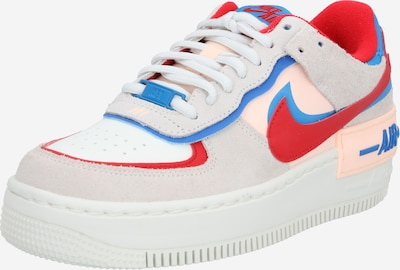 Nike Sportswear Zemie apavi 'Air Force 1 Shadow' bēšs / debeszils / sarkans / balts, Preces skats