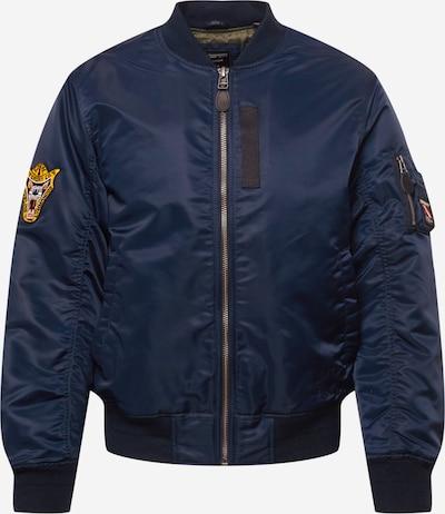 Superdry Φθινοπωρινό και ανοιξιάτικο μπουφάν σε ναυτικό μπλε / κίτρινο / μαύρο / λευκό, Άποψη προϊόντος