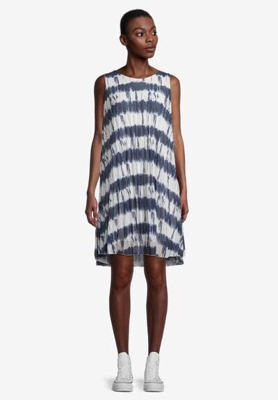 Cartoon Plisseekleid ohne Arm in blau / weiß, Modelansicht