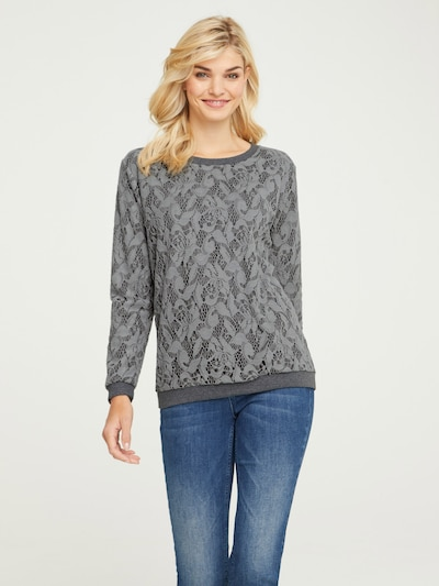 heine Sweatshirt in de kleur Grijs gemêleerd: Vooraanzicht