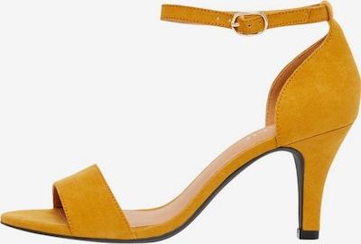 Bianco Sandalen met riem in de kleur Goudgeel, Productweergave