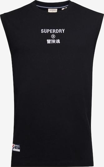 Superdry Shirt 'Corporate' in de kleur Zwart / Wit, Productweergave
