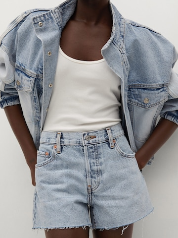 MANGO Jeans 'HAILEY' in Blauw