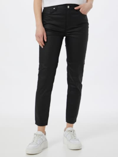 NU-IN Džínsy 'High Rise Coated Skinny Jeans' - čierna, Model/-ka