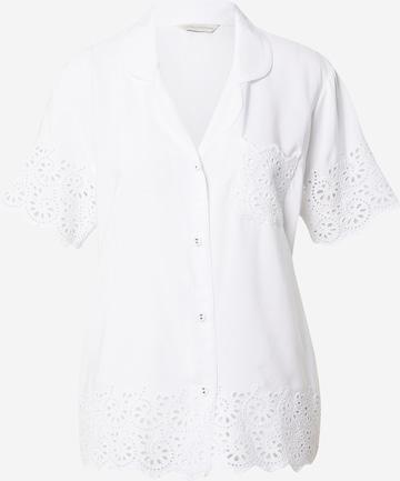 Cyberjammies Pyjamabluse 'Leah Aoe' in Weiß