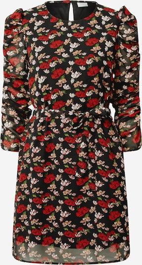 JACQUELINE de YONG Kleid in beige / rot / schwarz: Frontalansicht