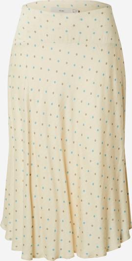 ICHI Rok in de kleur Beige / Donkerbeige / Lichtblauw, Productweergave